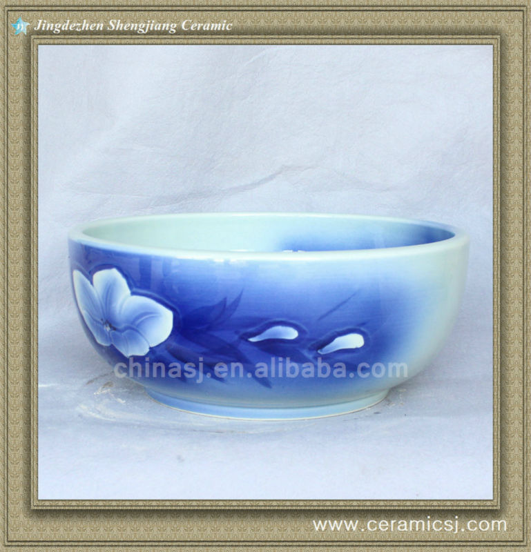 588837718_221 colorful chinese ceramic bathroom sink WRYBH93 - shengjiang  ceramic  factory   porcelain art hand basin wash sink