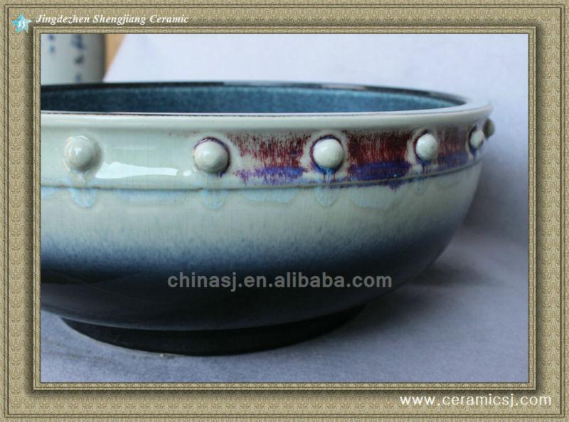 588840254_214 colorful chinese ceramic bathroom sink WRYBH100 - shengjiang  ceramic  factory   porcelain art hand basin wash sink