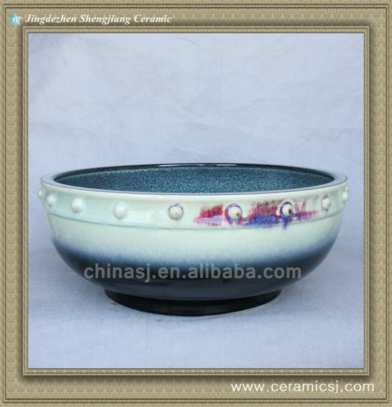 588840257_812 colorful chinese ceramic bathroom sink WRYBH100 - shengjiang  ceramic  factory   porcelain art hand basin wash sink