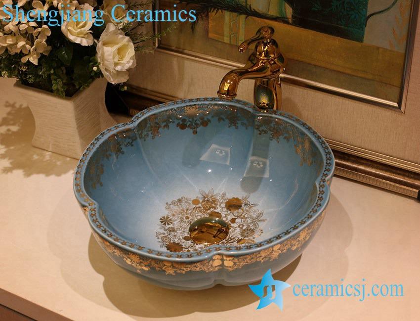 LT-1A1242 LT-1A1242 Jingdezhen art ceramic wash basin / unique bathroom sink - shengjiang  ceramic  factory   porcelain art hand basin wash sink