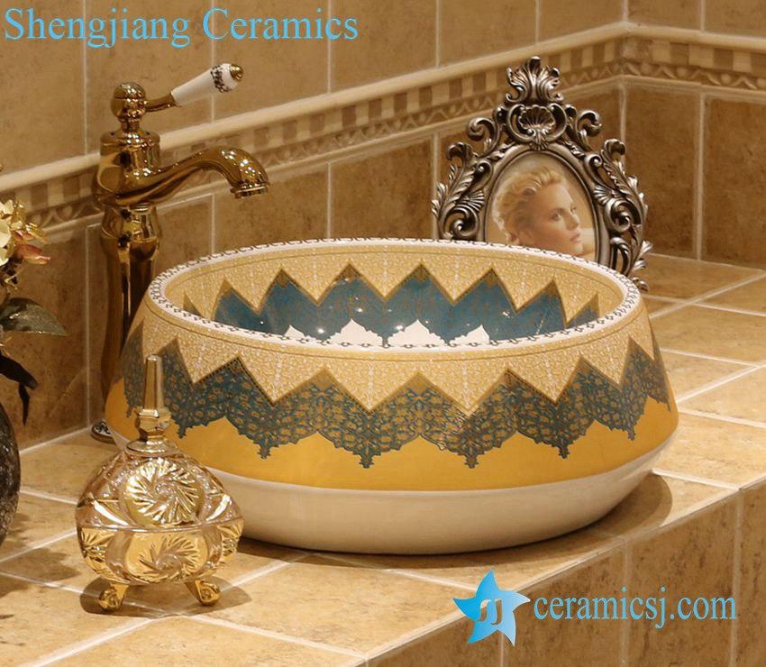 LT-1A2813-1 LT-1A2813 Jingdezhen art ceramic wash basin / unique bathroom sink - shengjiang  ceramic  factory   porcelain art hand basin wash sink