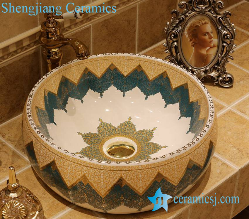 LT-1A2843 LT-1A2813 Jingdezhen art ceramic wash basin / unique bathroom sink - shengjiang  ceramic  factory   porcelain art hand basin wash sink