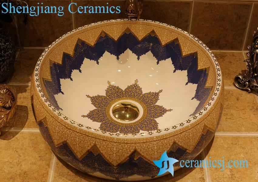 LT-1A2863 LT-1A2813 Jingdezhen art ceramic wash basin / unique bathroom sink - shengjiang  ceramic  factory   porcelain art hand basin wash sink