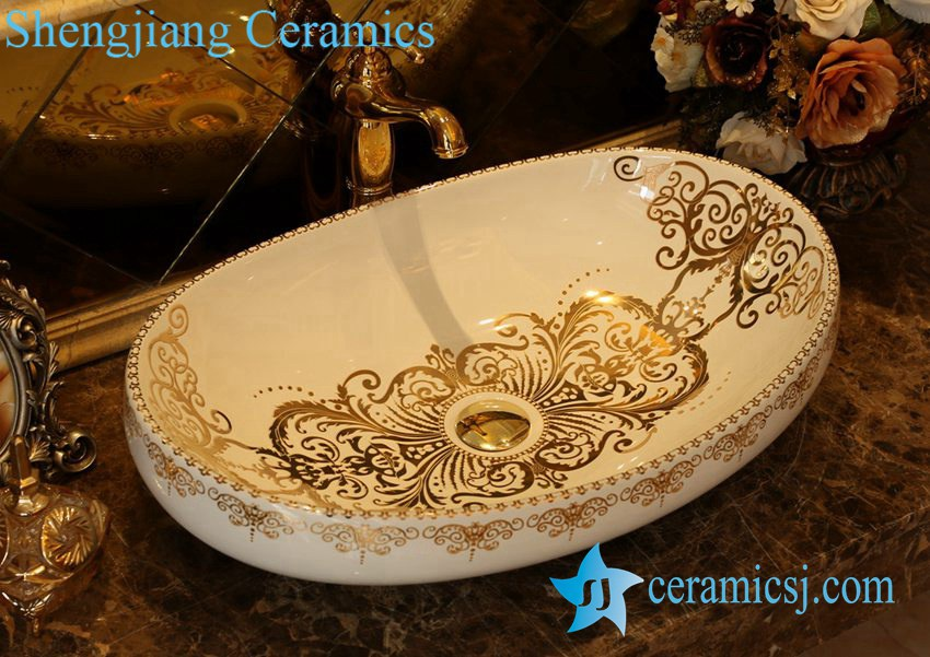 LT-1A6271-1 LT-1A6271 Jingdezhen art ceramic wash basin / unique bathroom sink - shengjiang  ceramic  factory   porcelain art hand basin wash sink