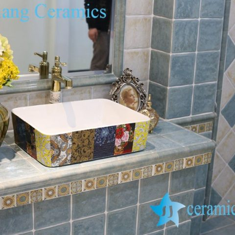 LT-1A8207 Jingdezhen art ceramic wash basin / unique bathroom sink
