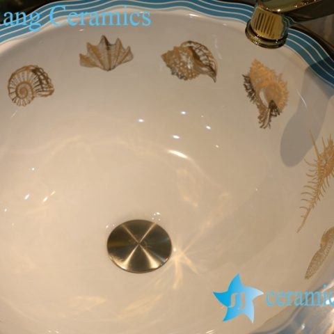 LT-1A8256 Jingdezhen art ceramic wash basin / unique bathroom sink