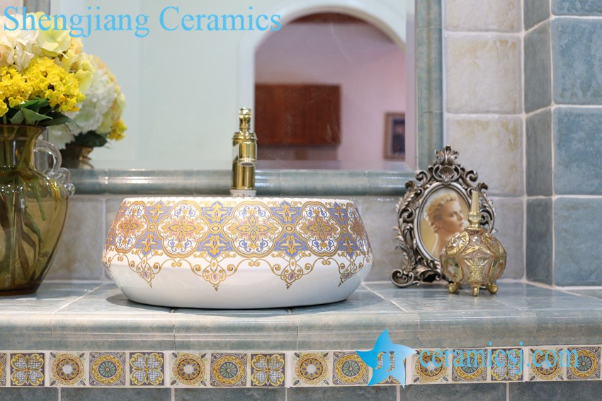 LT-1A8268 LT-1A8267 Jingdezhen art ceramic wash basin / unique bathroom sink - shengjiang  ceramic  factory   porcelain art hand basin wash sink