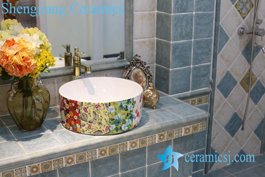 LT-1A8301 LT-1A8301 Jingdezhen art ceramic wash basin / unique bathroom sink - shengjiang  ceramic  factory   porcelain art hand basin wash sink