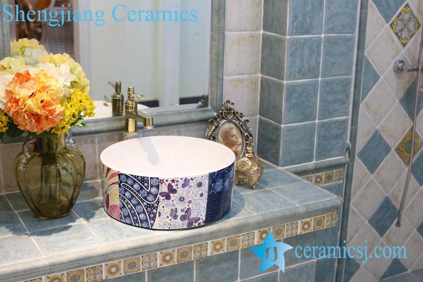 LT-1A8306 LT-1A8306 Jingdezhen art ceramic wash basin / unique bathroom sink - shengjiang  ceramic  factory   porcelain art hand basin wash sink