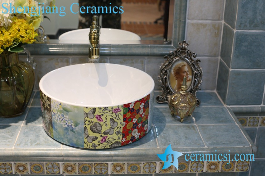 LT-1A8339 LT-1A8338 Jingdezhen art ceramic wash basin / unique bathroom sink - shengjiang  ceramic  factory   porcelain art hand basin wash sink