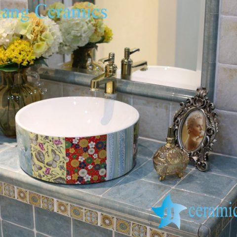 LT-1A8338 Jingdezhen art ceramic wash basin / unique bathroom sink