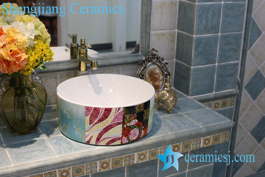 LT-1A8358 LT-1A8358 Jingdezhen art ceramic wash basin / unique bathroom sink - shengjiang  ceramic  factory   porcelain art hand basin wash sink