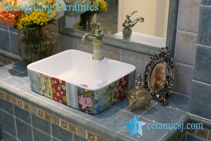 LT-1A8417 LT-1A8416 Jingdezhen art ceramic wash basin / unique bathroom sink - shengjiang  ceramic  factory   porcelain art hand basin wash sink