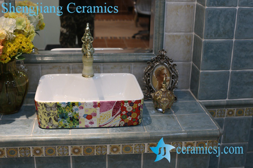LT-1A8426 LT-1A8426 Jingdezhen art ceramic wash basin / unique bathroom sink - shengjiang  ceramic  factory   porcelain art hand basin wash sink