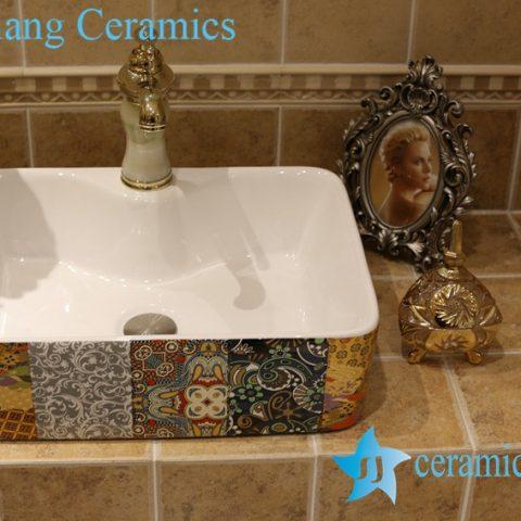 LT-1A8451 Jingdezhen art ceramic wash basin / unique bathroom sink