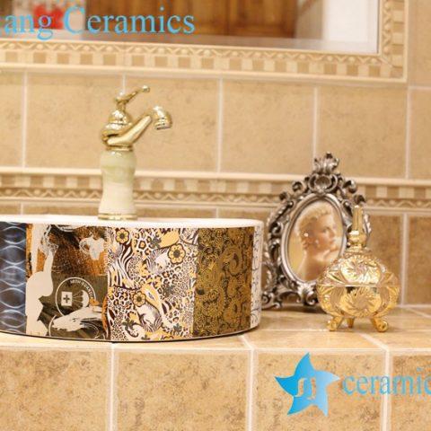 LT-1A8463 Jingdezhen art ceramic wash basin / unique bathroom sink