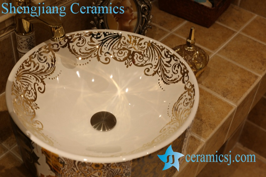 LT-1A8481 LT-1A8476 Jingdezhen art ceramic wash basin / unique bathroom sink - shengjiang  ceramic  factory   porcelain art hand basin wash sink