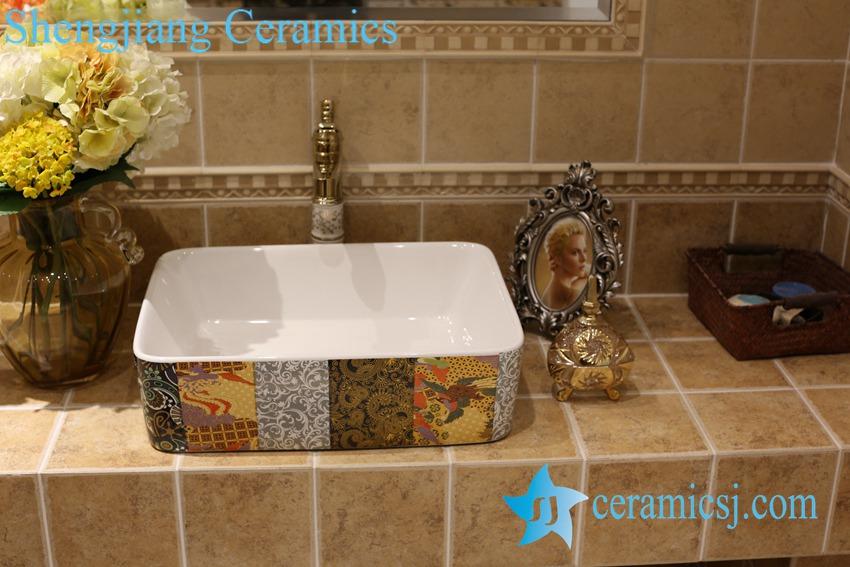 LT-1A8500 LT-1A8499 Jingdezhen art ceramic wash basin / unique bathroom sink - shengjiang  ceramic  factory   porcelain art hand basin wash sink