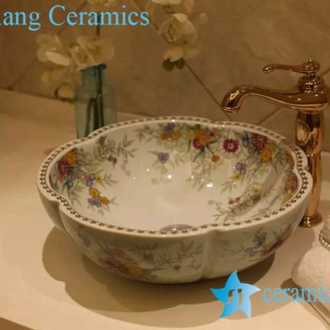 TPAA-214 China supplier beautiful country home enamel wash bowl ...