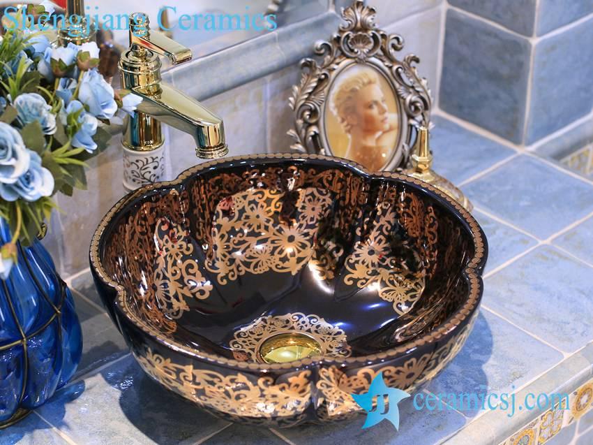 LT-X1A3643-1 LT-X1A3624 Jingdezhen art ceramic wash basin / unique bathroom sink - shengjiang  ceramic  factory   porcelain art hand basin wash sink