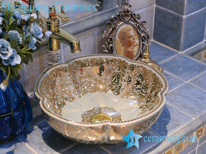 LT-X1A3655-1 LT-X1A3624 Jingdezhen art ceramic wash basin / unique bathroom sink - shengjiang  ceramic  factory   porcelain art hand basin wash sink