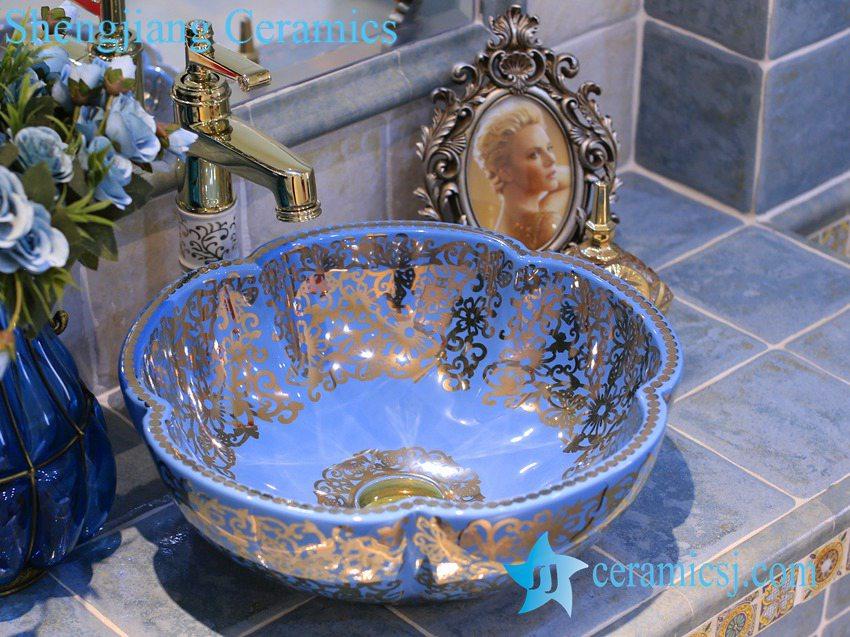 LT-X1A3664-1 LT-X1A3624 Jingdezhen art ceramic wash basin / unique bathroom sink - shengjiang  ceramic  factory   porcelain art hand basin wash sink