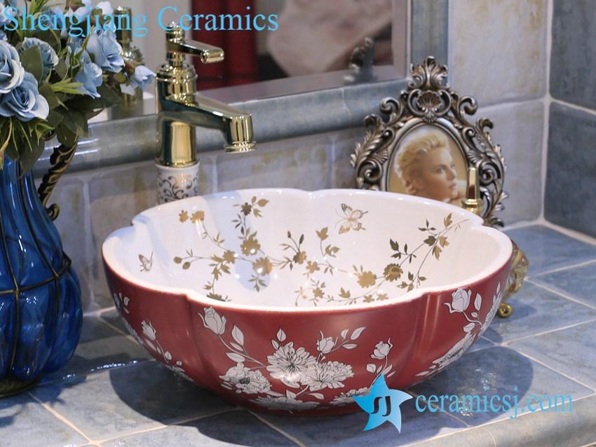 LT-X1A3857 LT-X1A3884 Jingdezhen art ceramic wash basin / unique bathroom sink - shengjiang  ceramic  factory   porcelain art hand basin wash sink