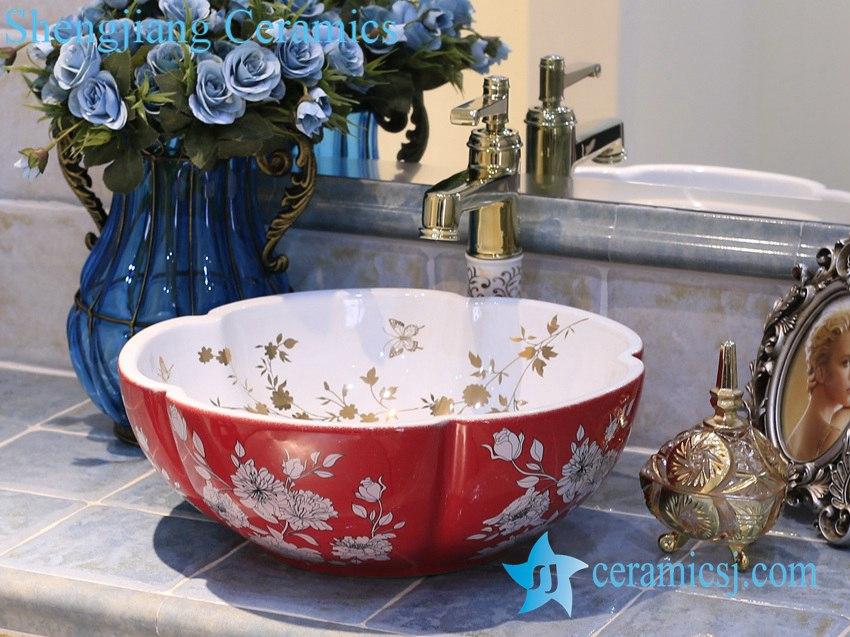 LT-X1A3884 LT-X1A3884 Jingdezhen art ceramic wash basin / unique bathroom sink - shengjiang  ceramic  factory   porcelain art hand basin wash sink