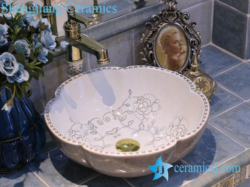 LT-X1A4017 LT-X1A4017 Jingdezhen art ceramic wash basin / unique bathroom sink - shengjiang  ceramic  factory   porcelain art hand basin wash sink