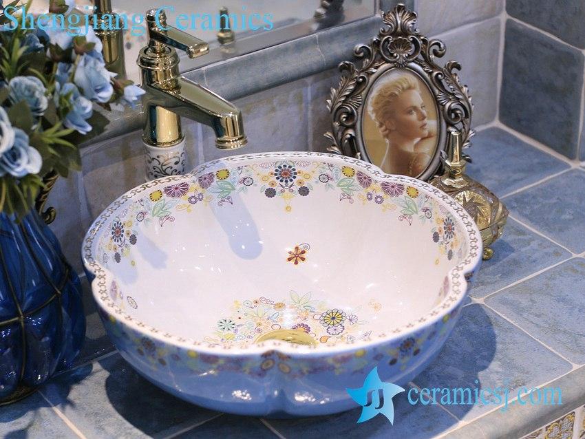 LT-X1A4066 LT-X1A4066 Jingdezhen art ceramic wash basin / unique bathroom sink - shengjiang  ceramic  factory   porcelain art hand basin wash sink