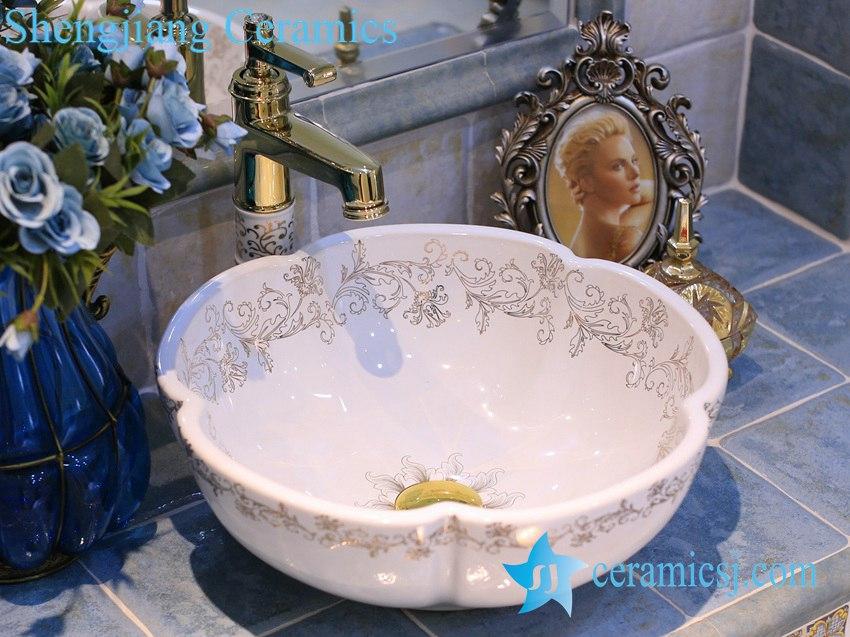 LT-X1A4120 LT-X1A4120 Jingdezhen art ceramic wash basin / unique bathroom sink - shengjiang  ceramic  factory   porcelain art hand basin wash sink