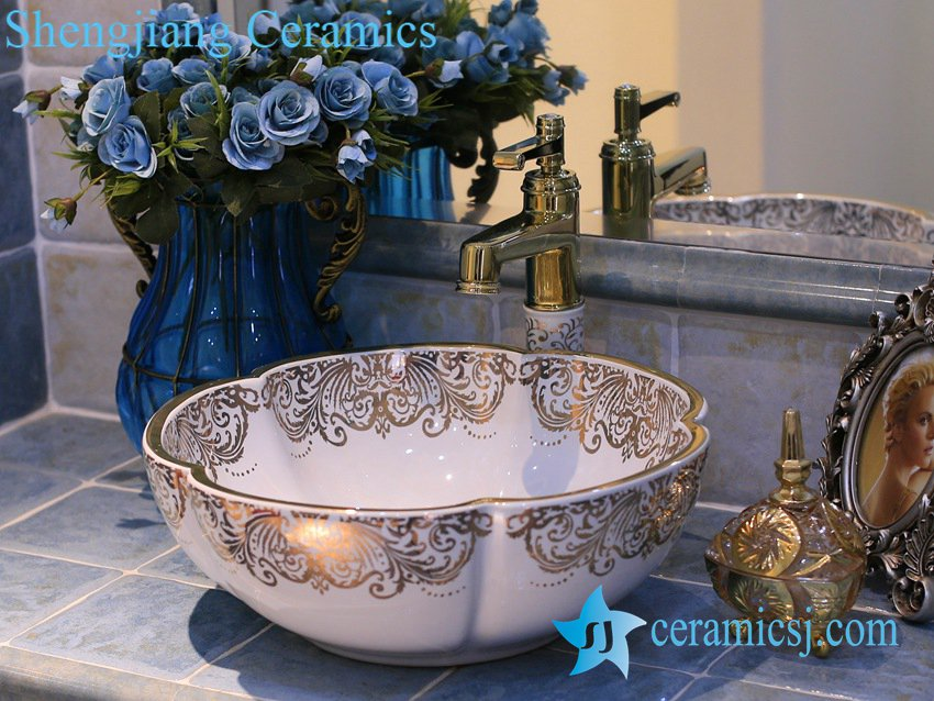 LT-X1A4226 LT-X1A4226 Jingdezhen art ceramic wash basin / unique bathroom sink - shengjiang  ceramic  factory   porcelain art hand basin wash sink