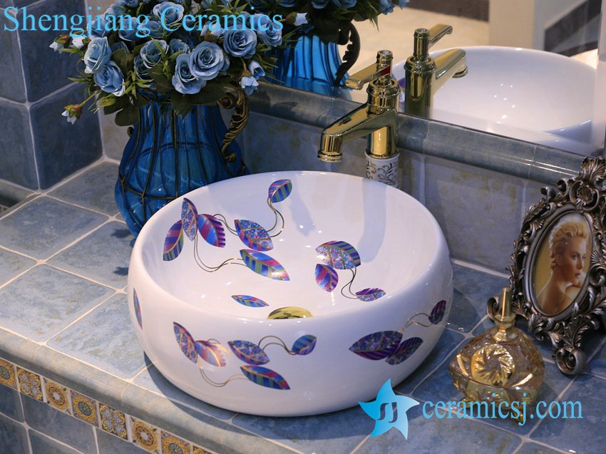LT-X1A4392 LT-X1A4392 Jingdezhen art ceramic wash basin / unique bathroom sink - shengjiang  ceramic  factory   porcelain art hand basin wash sink