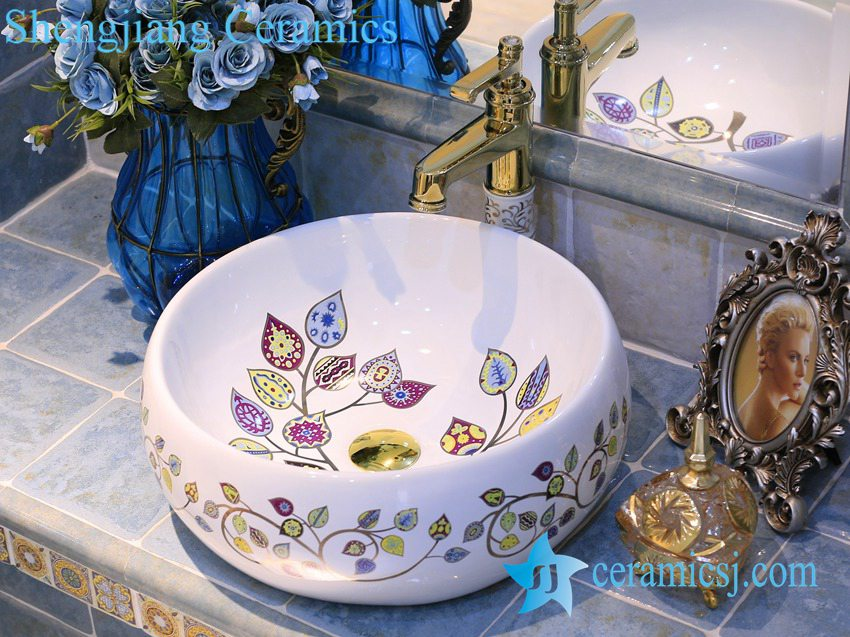 LT-X1A4416 LT-X1A4416 Jingdezhen art ceramic wash basin / unique bathroom sink - shengjiang  ceramic  factory   porcelain art hand basin wash sink