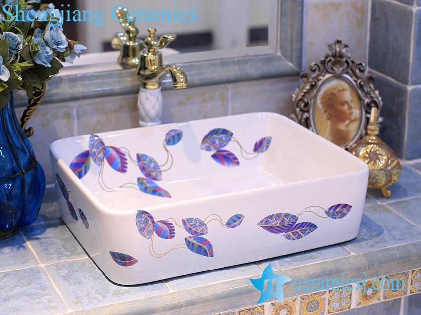 LT-X1A4506 LT-X1A4506 Jingdezhen art ceramic wash basin / unique bathroom sink - shengjiang  ceramic  factory   porcelain art hand basin wash sink