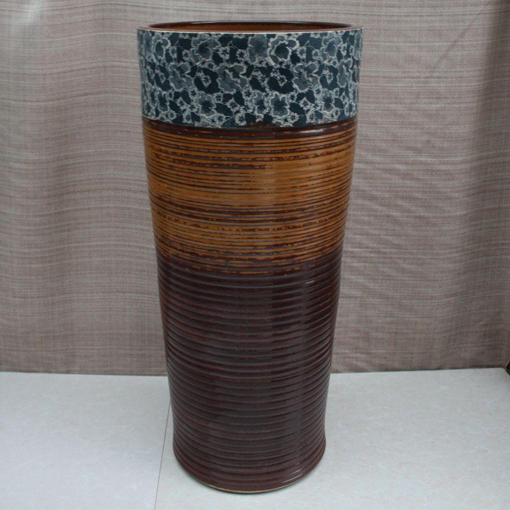 RYXW012_4 RYXW012 Engraving floral design Ceramic Pedestal Lavatory Basin - shengjiang  ceramic  factory   porcelain art hand basin wash sink