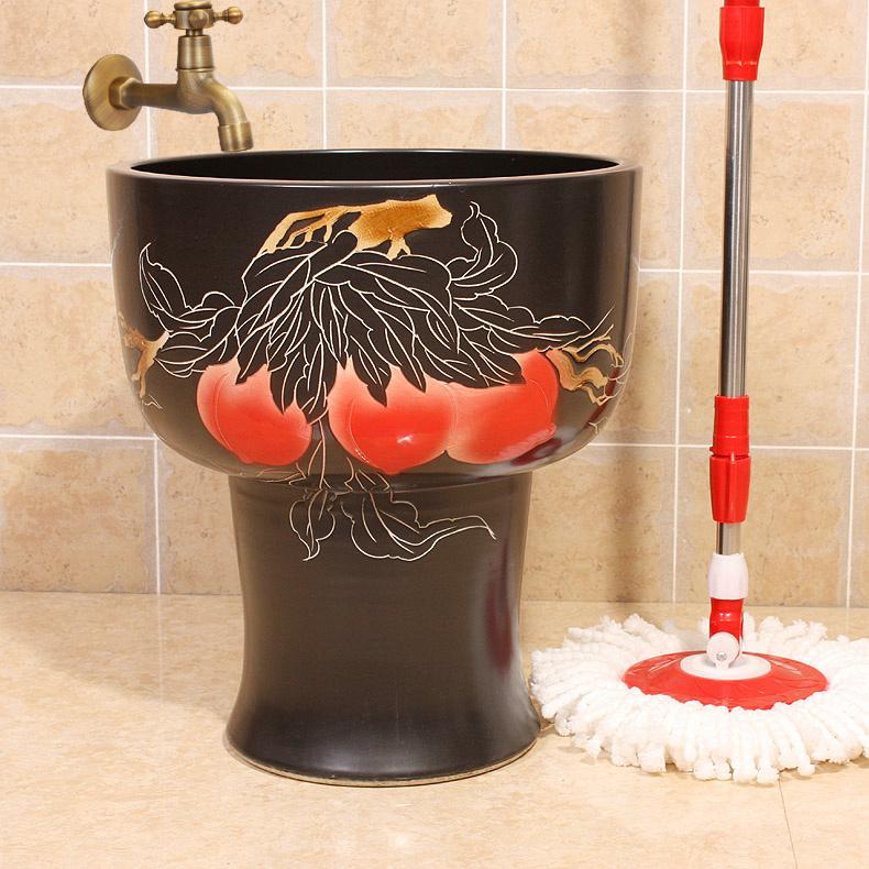 RYXW133_2 12 designs Ceramic mops washbasins  mop pool  mop washing - shengjiang  ceramic  factory   porcelain art hand basin wash sink