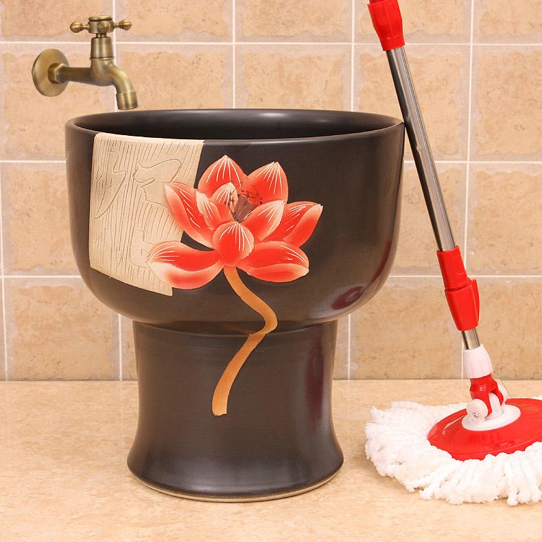 RYXW137_1 12 designs Ceramic mops washbasins  mop pool  mop washing - shengjiang  ceramic  factory   porcelain art hand basin wash sink
