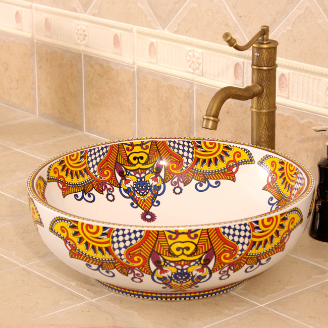 RYXW317_7 RYXW317 Multi-color design Jingdezhen Ceramic Bathroom Wash basin - shengjiang  ceramic  factory   porcelain art hand basin wash sink