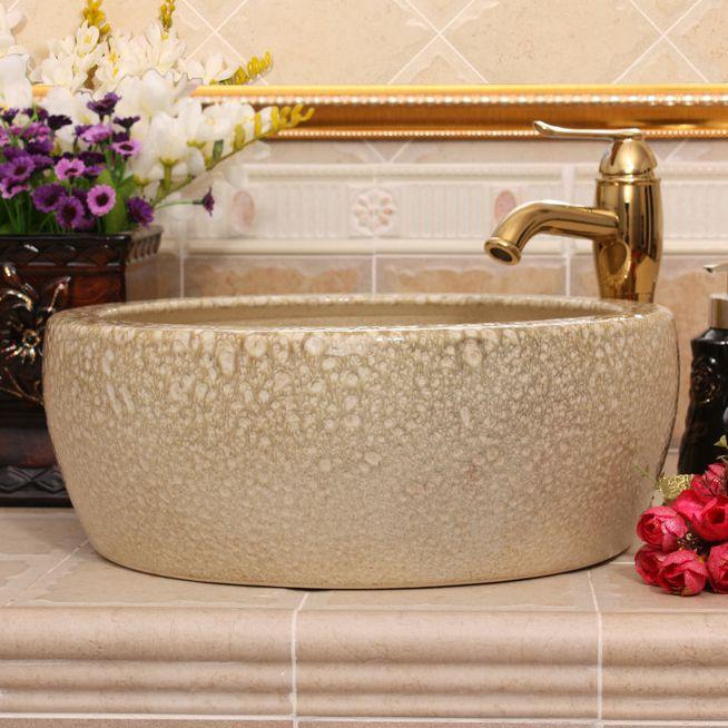 RYXW510_3 Color glazed Ceramic wash basin size 16″ - shengjiang  ceramic  factory   porcelain art hand basin wash sink