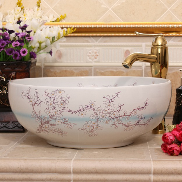 RYXW681_3 9 designs Porcelain vessel sink - shengjiang  ceramic  factory   porcelain art hand basin wash sink