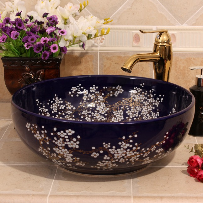 RYXW682_3 9 designs Porcelain vessel sink - shengjiang  ceramic  factory   porcelain art hand basin wash sink