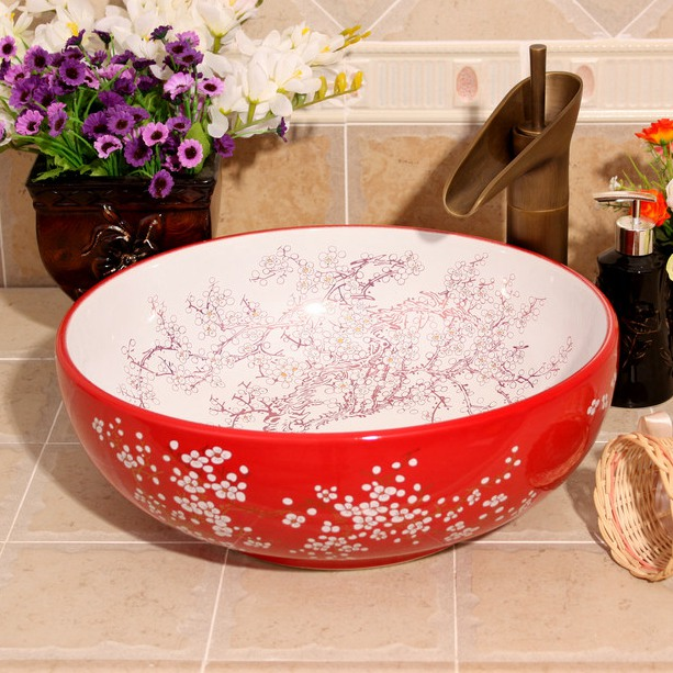 RYXW685_1 9 designs Porcelain vessel sink - shengjiang  ceramic  factory   porcelain art hand basin wash sink