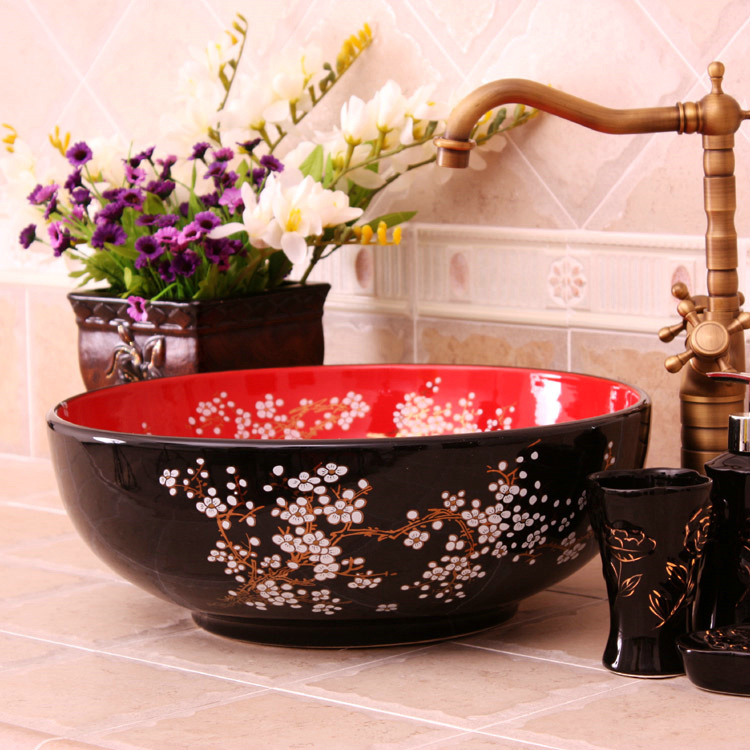 RYXW687_1 9 designs Porcelain vessel sink - shengjiang  ceramic  factory   porcelain art hand basin wash sink