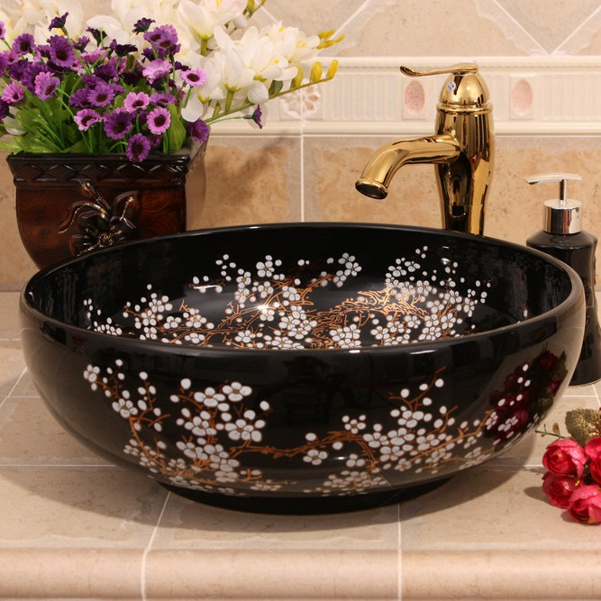 RYXW689_1 9 designs Porcelain vessel sink - shengjiang  ceramic  factory   porcelain art hand basin wash sink