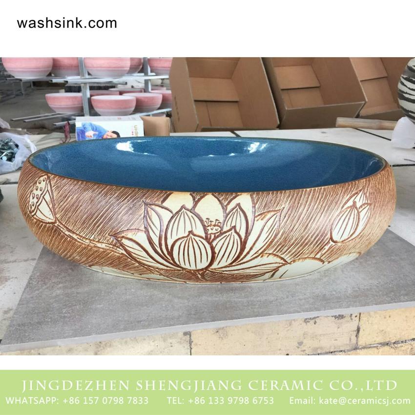 TPAA-164-w58×40×15j3135 TPAA-164 Shengjiang factory direct online sale beautiful home decor Jingdezhen ceramic art basin - shengjiang  ceramic  factory   porcelain art hand basin wash sink