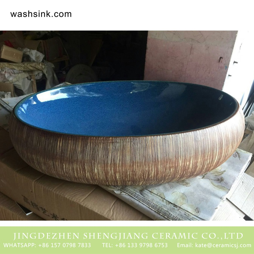 TPAA-169-w58×40×15j3135 TPAA-169 Lowest price home decor Jingdezhen ceramic lavabo - shengjiang  ceramic  factory   porcelain art hand basin wash sink