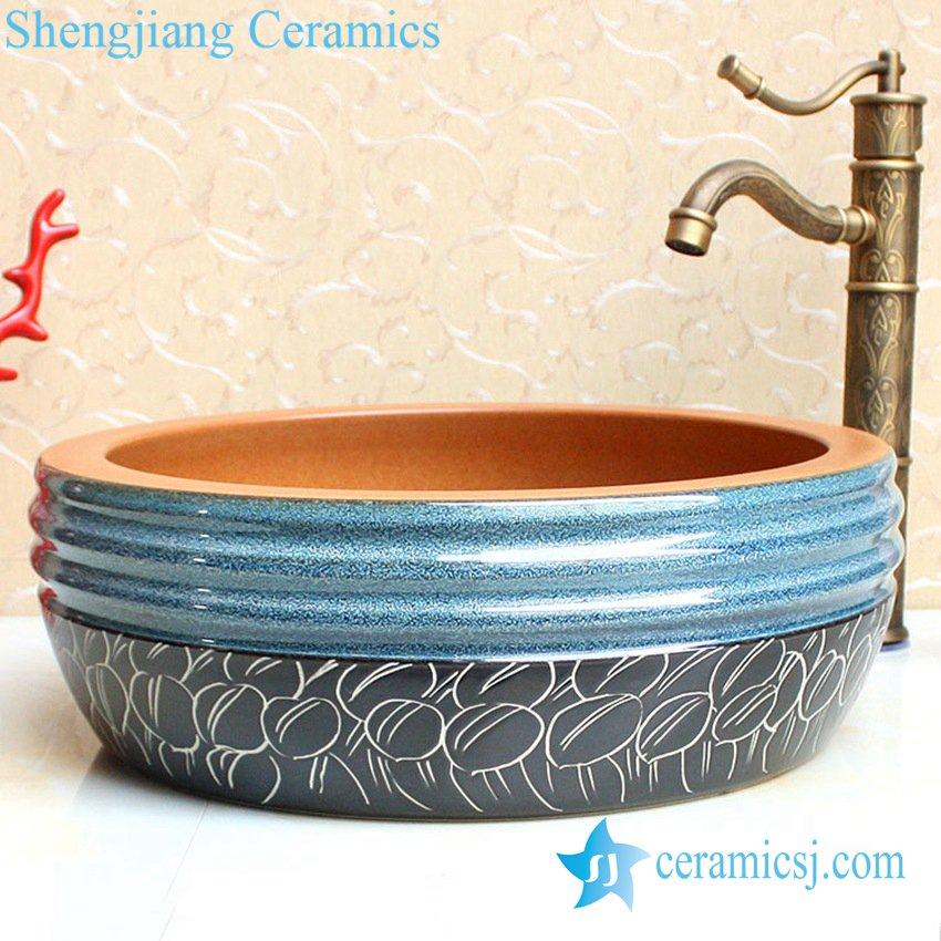 YL-B0_2408-1 YL-B0_2408 thicken layer bathroom sanitary vessel sink - shengjiang  ceramic  factory   porcelain art hand basin wash sink