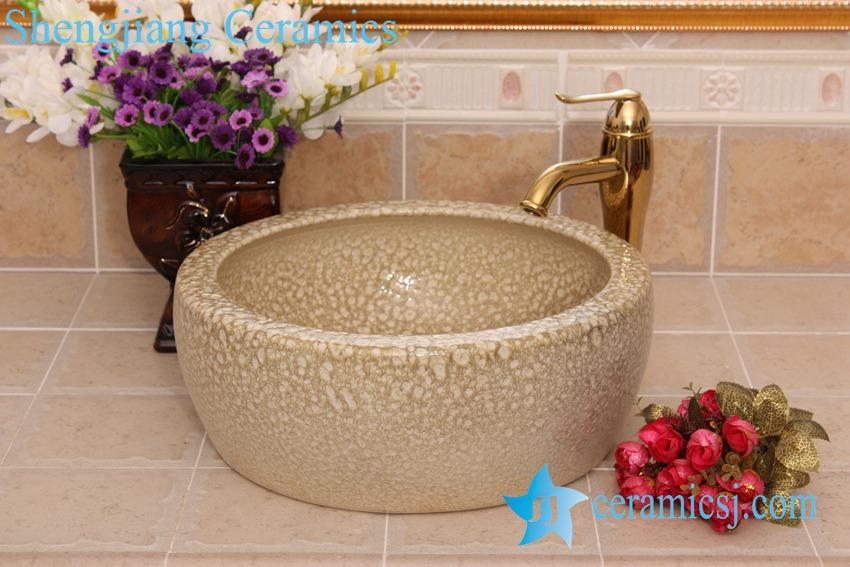 YL-B0_8227 YL-B0_8227 China supplier hot sale round waist drum style ceramic sanitary ware wash basin - shengjiang  ceramic  factory   porcelain art hand basin wash sink