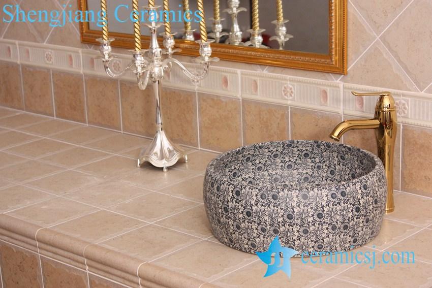 YL-B0_8362 YL-B0_8362 Industrial low price round ceramic portable bathroom sink basin - shengjiang  ceramic  factory   porcelain art hand basin wash sink